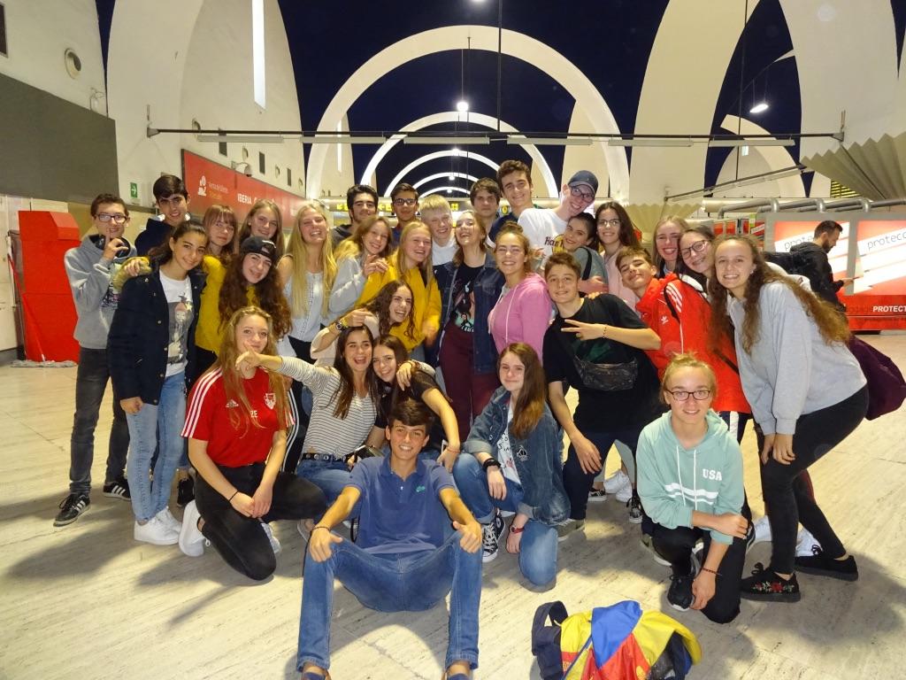 Gruppenfoto des Spanienaustauschs im November 2018